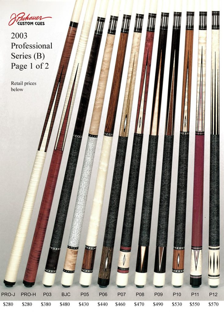 Retired Cues Pechauer Custom Cues